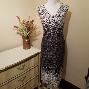 Cato Sheath Cocktail Midi Dress Polka Dots 18/20W